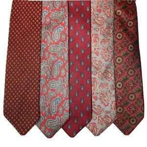 Lot of 5 Vintage Designer Ties Robert Talbott More